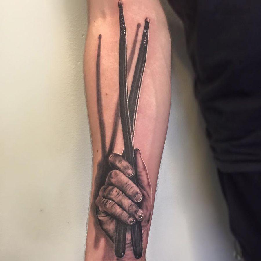 Drumsticks Tattoo Best Tattoo Design Ideas Drummer Tattoo Drum Tattoo Tattoos