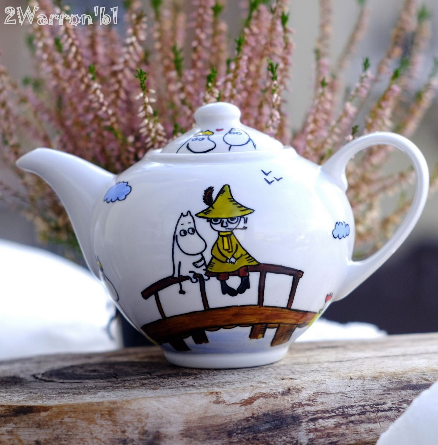 Making Tea In A Teapot Porcelain Handpainted Teapot Фарфоровый заварочный