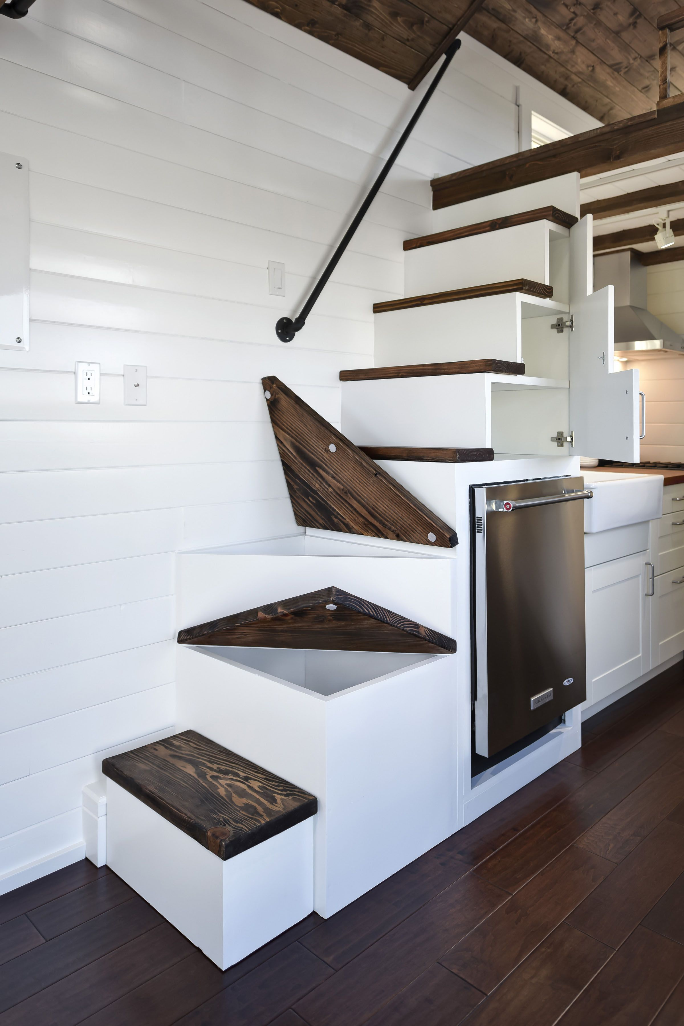 Best Tiny House Storage Staircase Bottom Three Steps Are 640 x 480