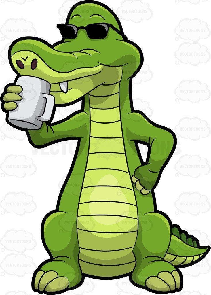 25+ Cute Reading Alligator Clipart
