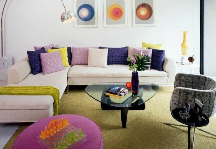 nice wohneinrichtung ideen wohnideen wohnzimmer retro stil grüner