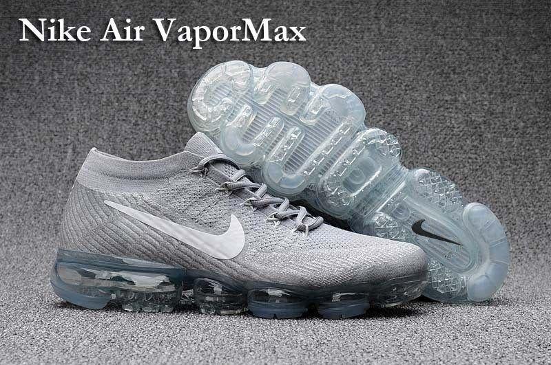 e10e391b4b26 Nike Air VaporMax Men Women Running Shoes Sneakers Trainers Cool Grey  849560-100