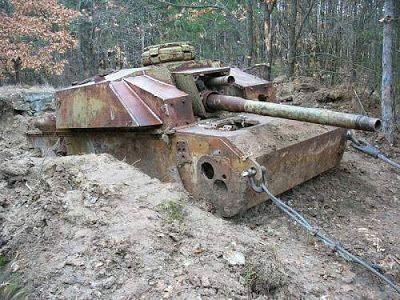 Assault gun recovered in Bulgaria.