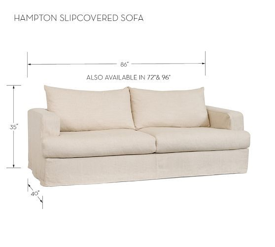 Hampton Slipcovered Sofa