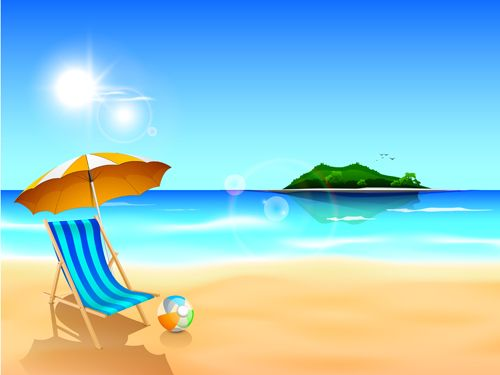 Summer Holiday Beach Creative Background Vecor  Vector Background Free Download