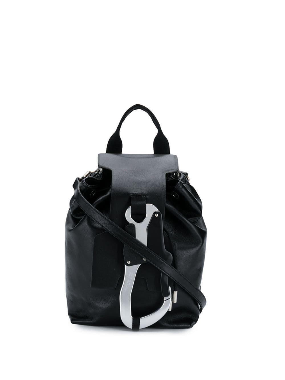 66479b56 ALYX 1017 ALYX 9SM OVERSIZED LOCK BACKPACK - SCHWARZ. #alyx #bags #leather # backpacks #cotton