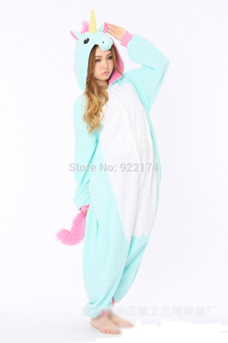 Unisex adult pink blue Unicorn Onesies Cosplay pajamas Pyjama Jumpsuit  halloween christmas party cosplay costumes S M L XL-in Clothing from  Novelty ... 797b9c85d