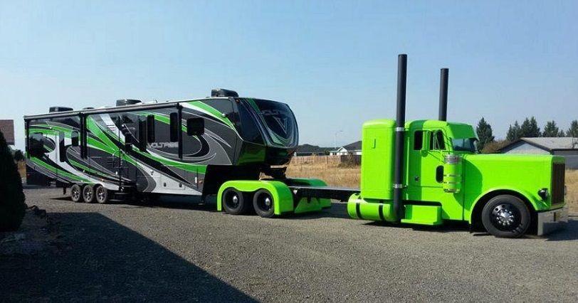 Trucking Campers Diesel Trucks Trucks Big Rig Trucks