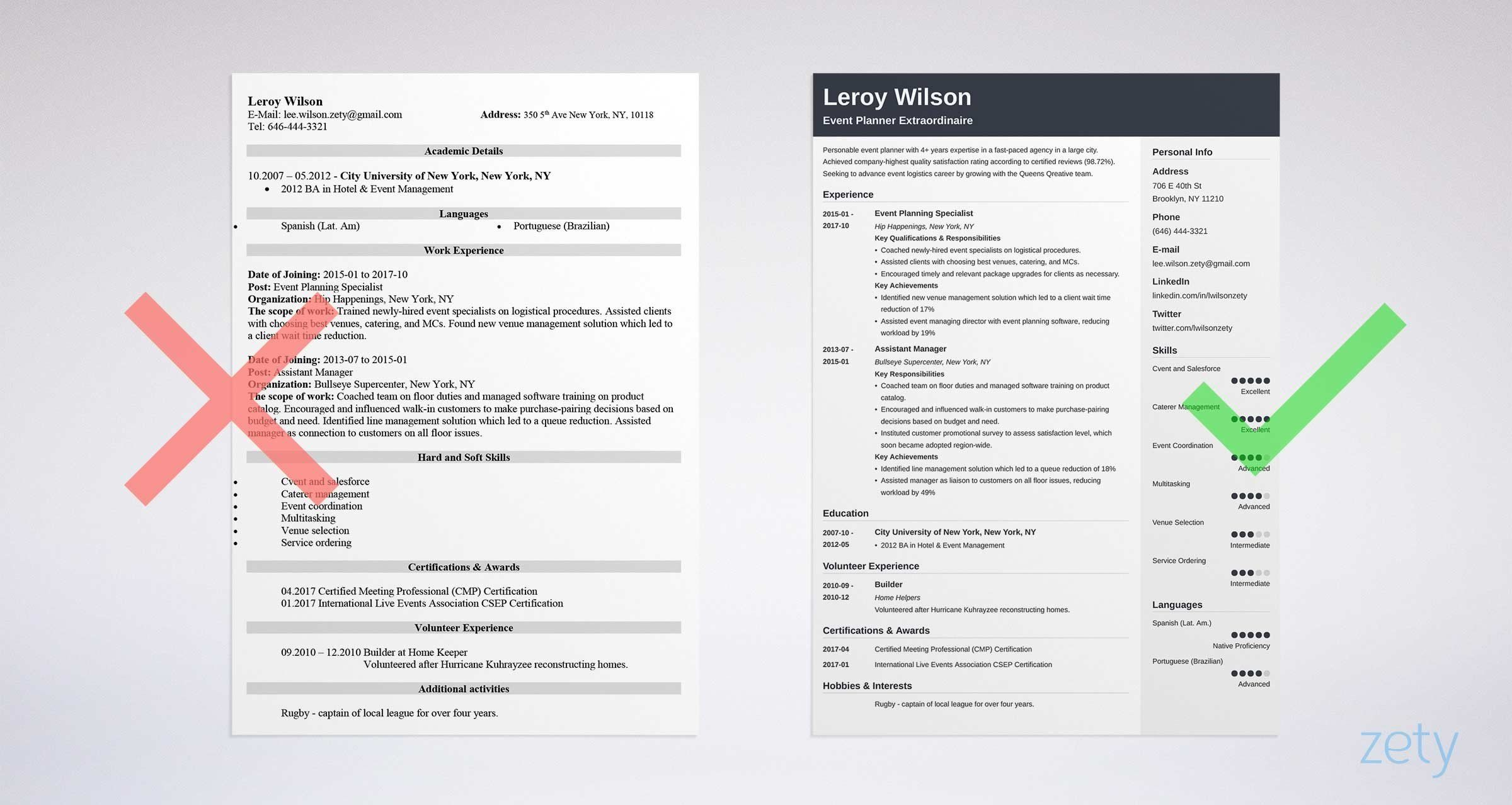 A stepbystep guide to writing an event planner resume