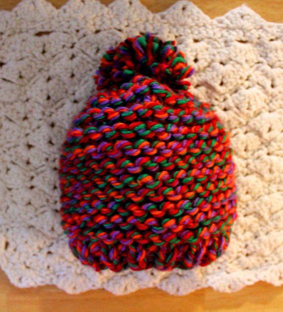 Custom Order Item  Handknit Baby Beanie Hat by KnitAndCrochetCafe, $17.00