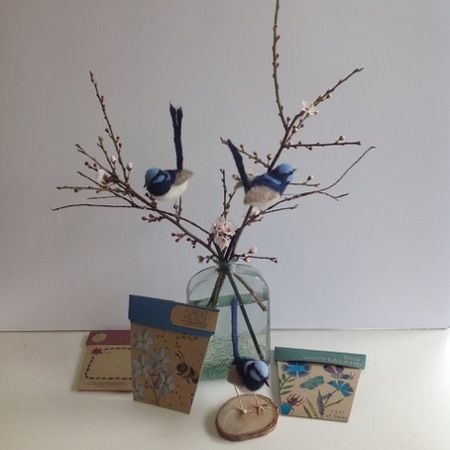 Make an Adorable Needle-Felted Life Size Blue Wren by Opendrawer