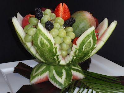 fruitcarvingideas simple yet exquisite work of