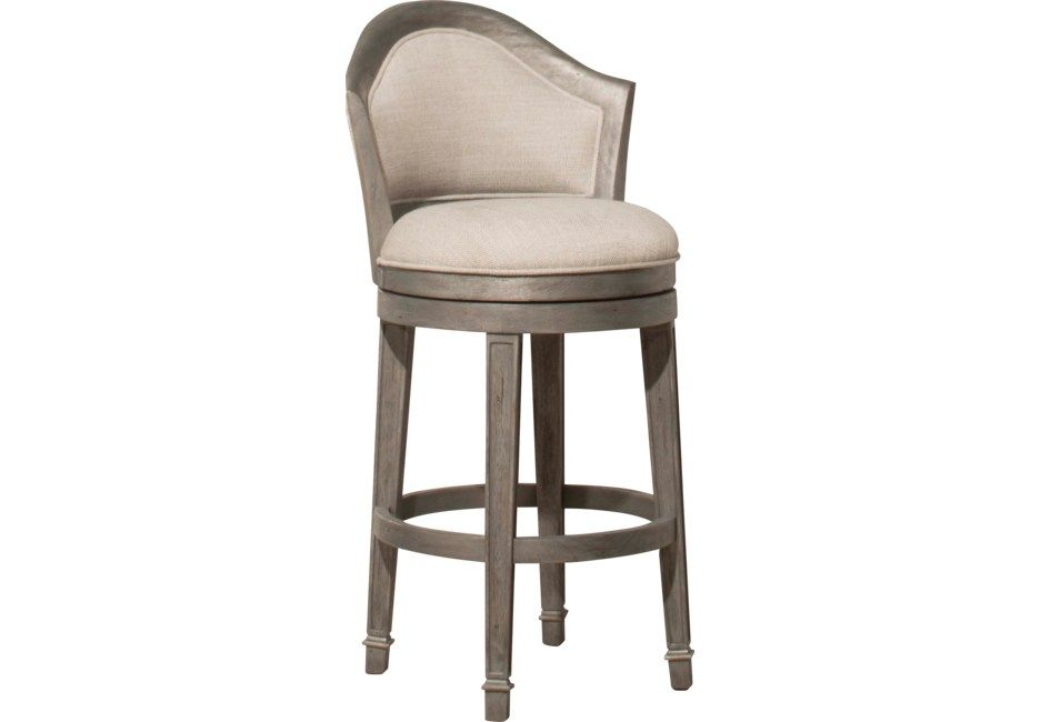 Phenomenal Mullein Gray Swivel Barstool In 2019 Bar Stools Counter Andrewgaddart Wooden Chair Designs For Living Room Andrewgaddartcom