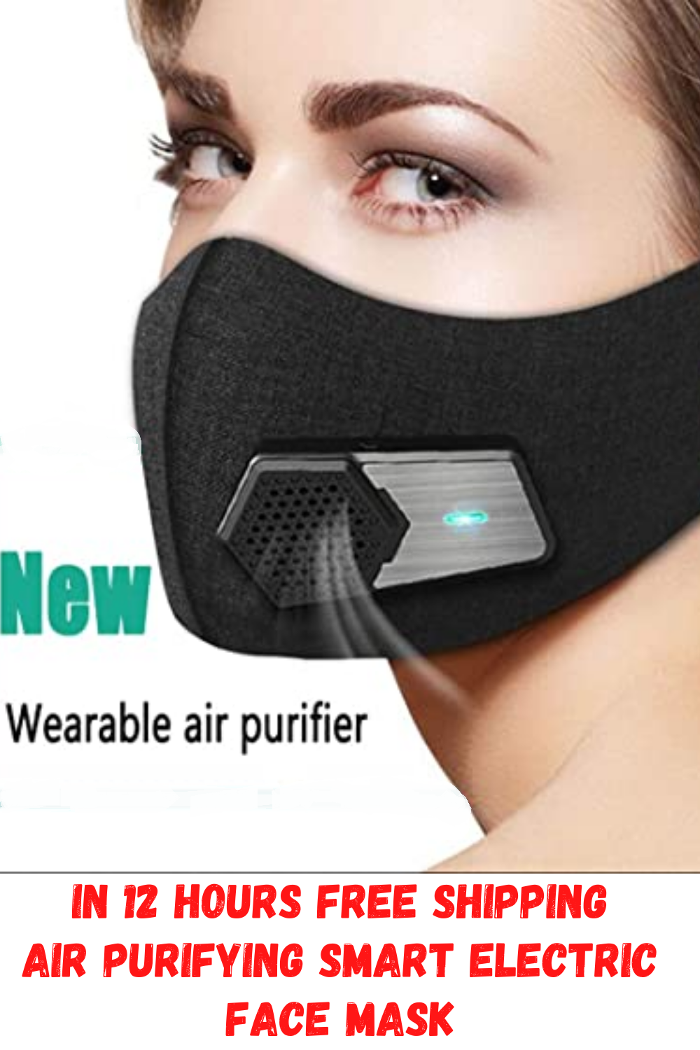 Air Purifying Smart Electric Face Mask in 2020 Face mask