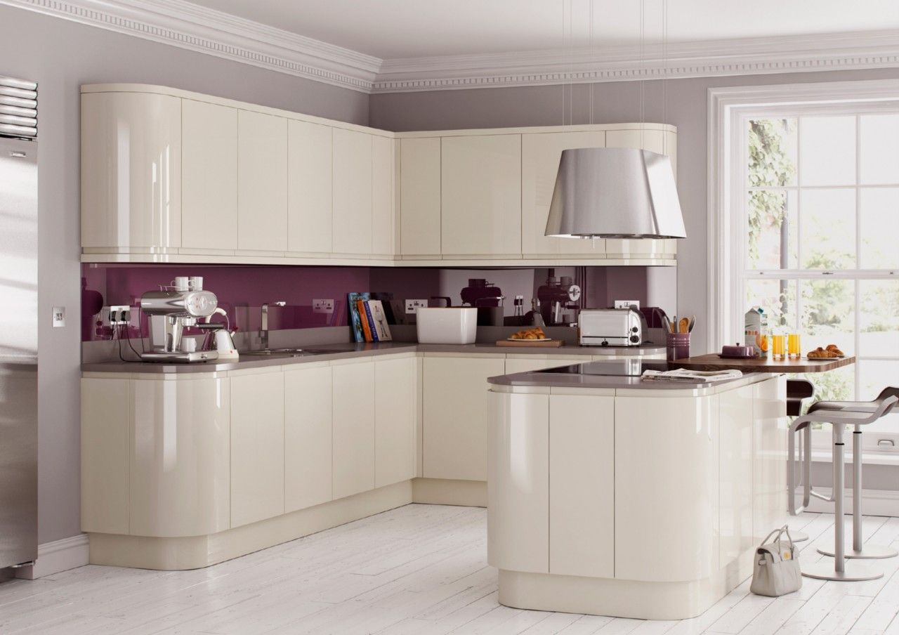 Cream Gloss Kitchen Tile Ideas Part - 41: Howden Kitchens Designs
