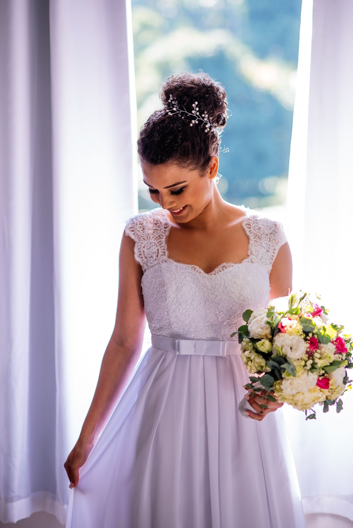 Vestido De Noiva Simples Casamento De Dia Aliexpress