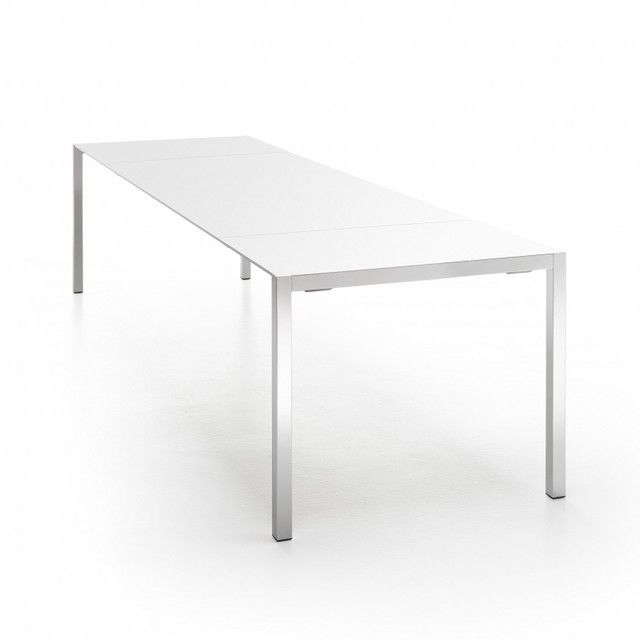 Ausziehtisch weiß  MDF Italia - Ext-Table Extendable Table - white/frame polished ...