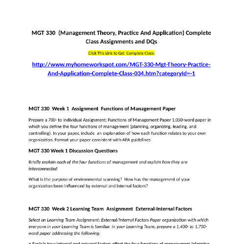 Management Theory Practice And Application