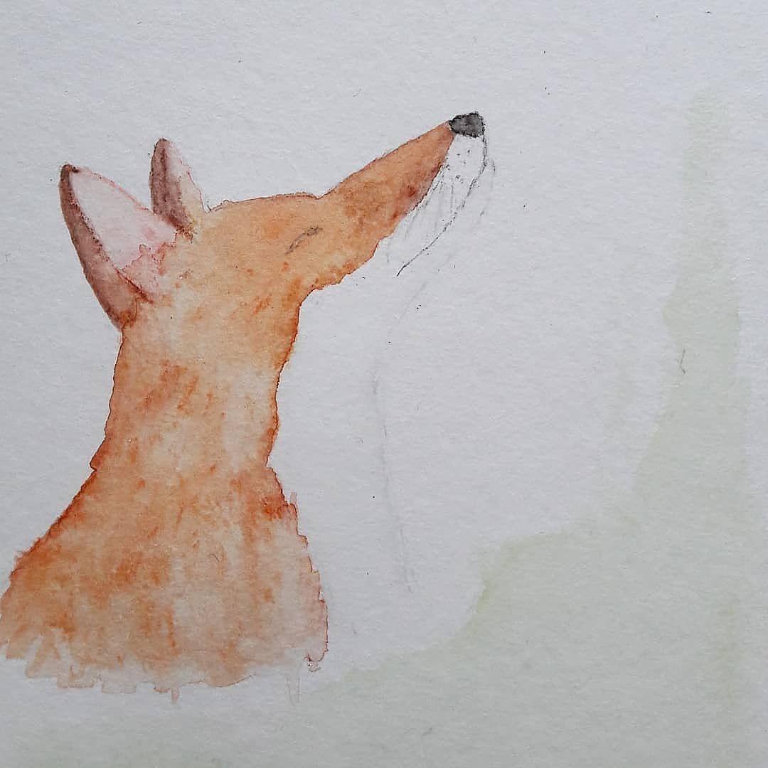 Aquarellfuchs Aquarell Fuchs Kreativkram Pinterest