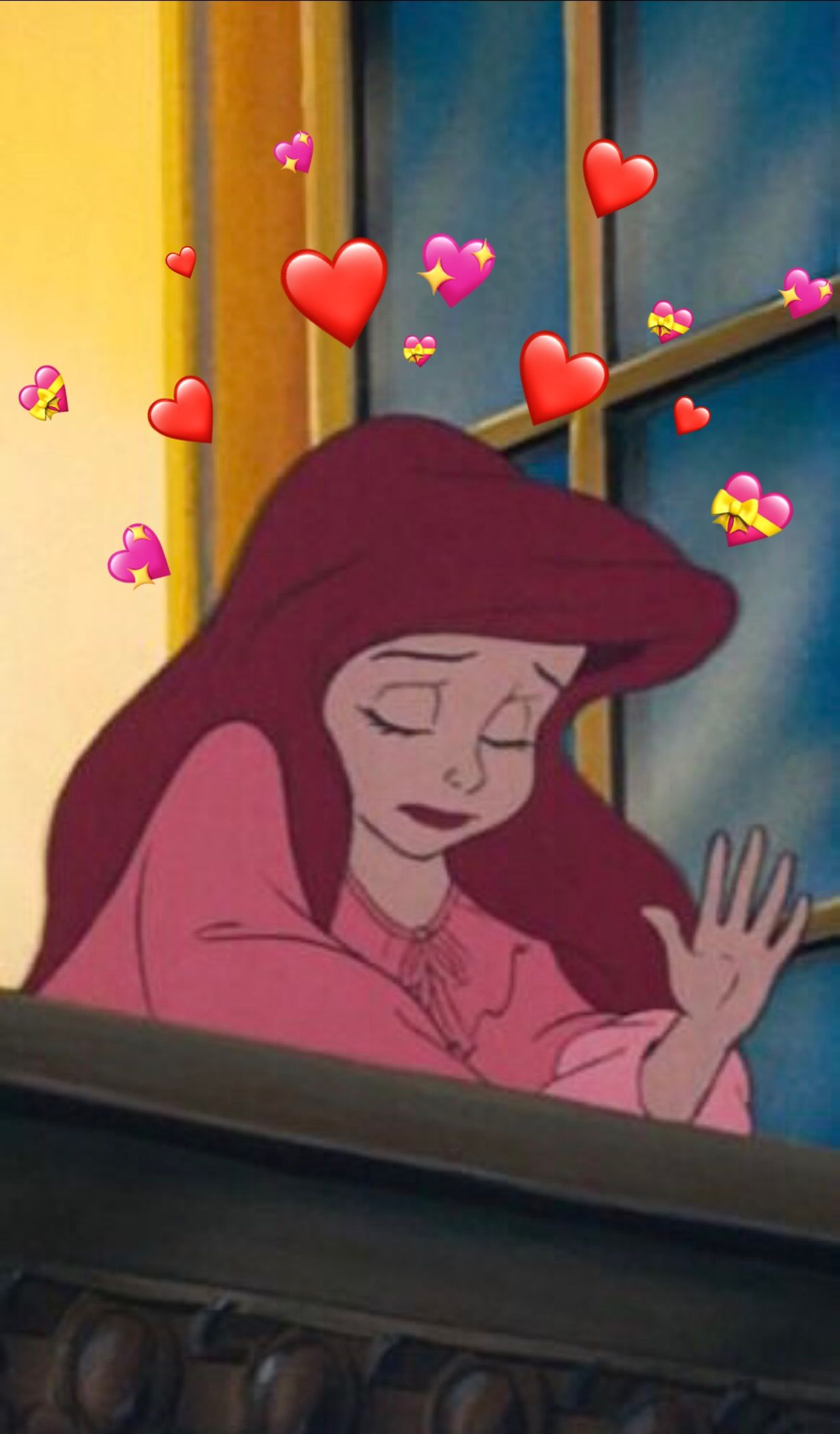 Ariel Heart Meme Cartoon Wallpaper Disney Wallpaper Cartoon Profile Pictures