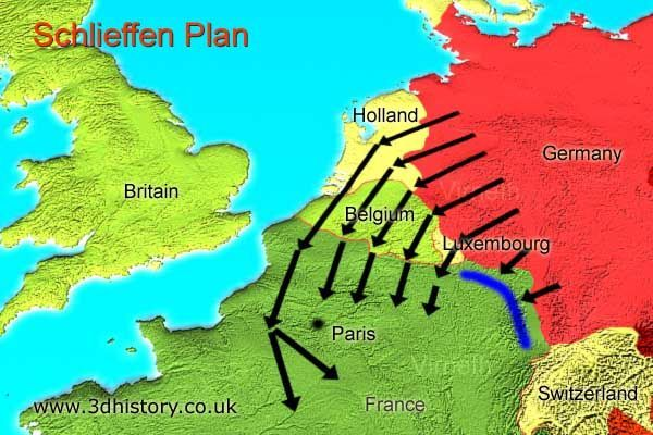 Map illustrating schlieffen plan world war 1 pinterest this is a map of the schlieffen plan illustrating the direction the germans moved ine plan was to start a two front war against russia and france gumiabroncs Images