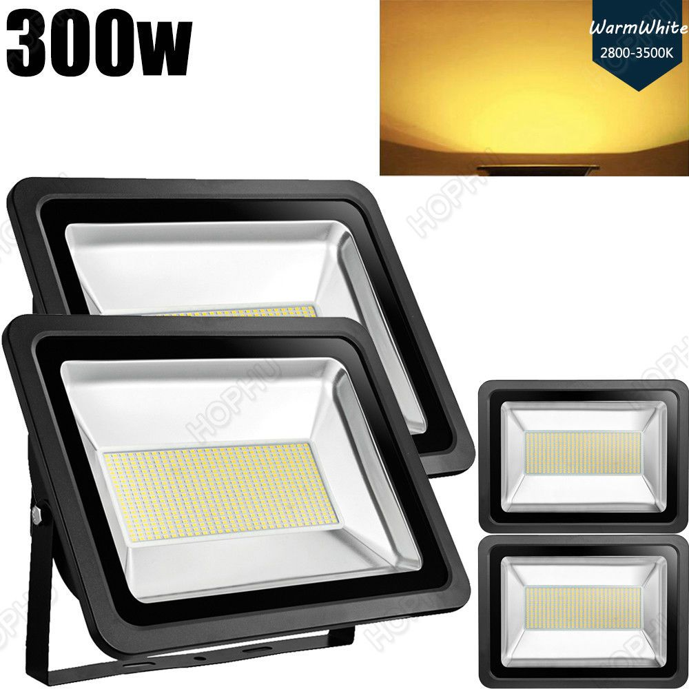 4x 300w 110v Led Flood Light Arena Outdoor Garden Yard Spotlight Warm White Ip65 Led Flood Flood Lights Outdoor Landscaping