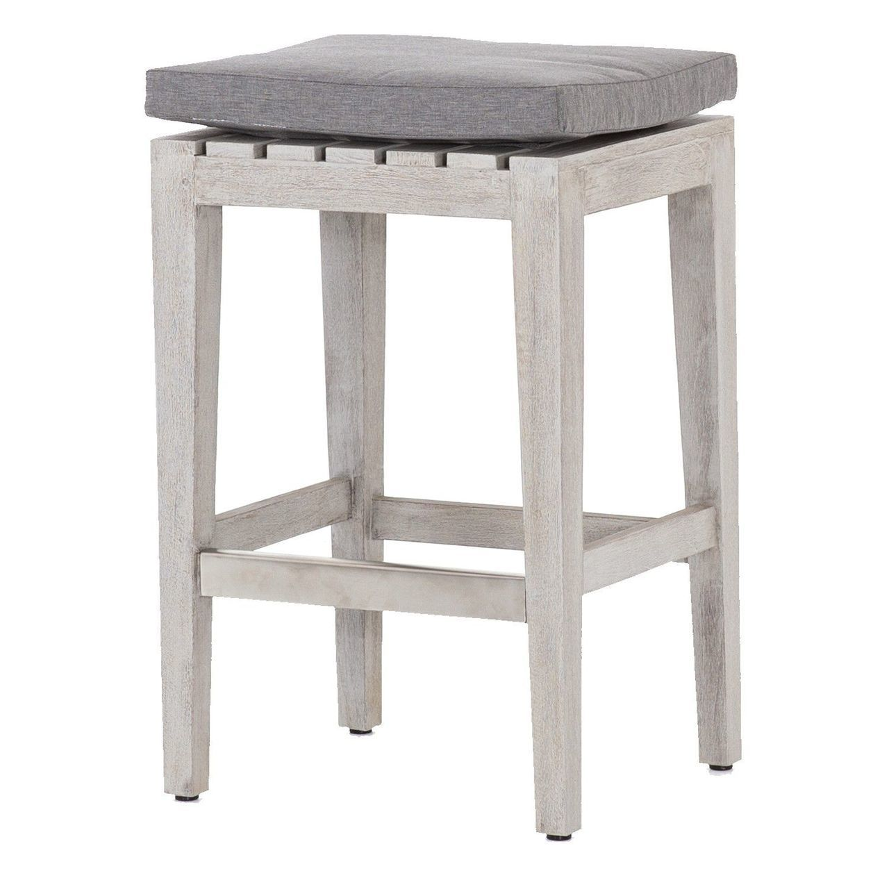 Dale Grey Teak Outdoor Counter Stool Outdoor Bar Stools Teak
