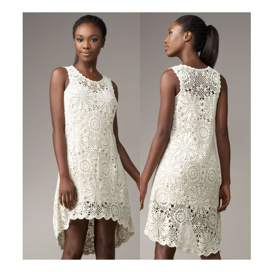 Crochet Dress Patterndetailed Tutorialcrochet High Low Dress