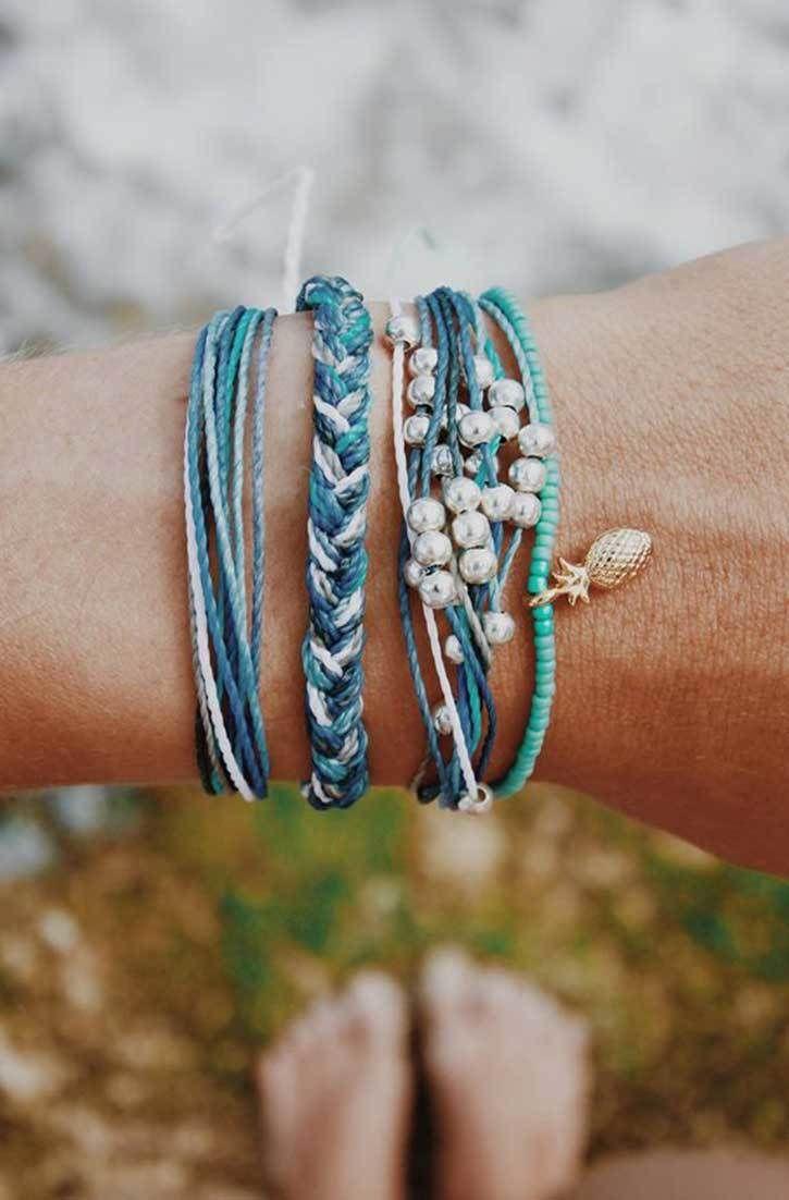 Ocean blues pura vida bracelets clothing shoes u jewelry women