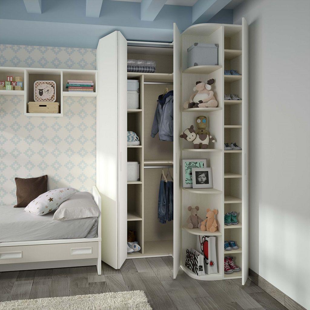 Armario rinc n con puertas plegables las cuales facilitan - Estanteria interior armario ...