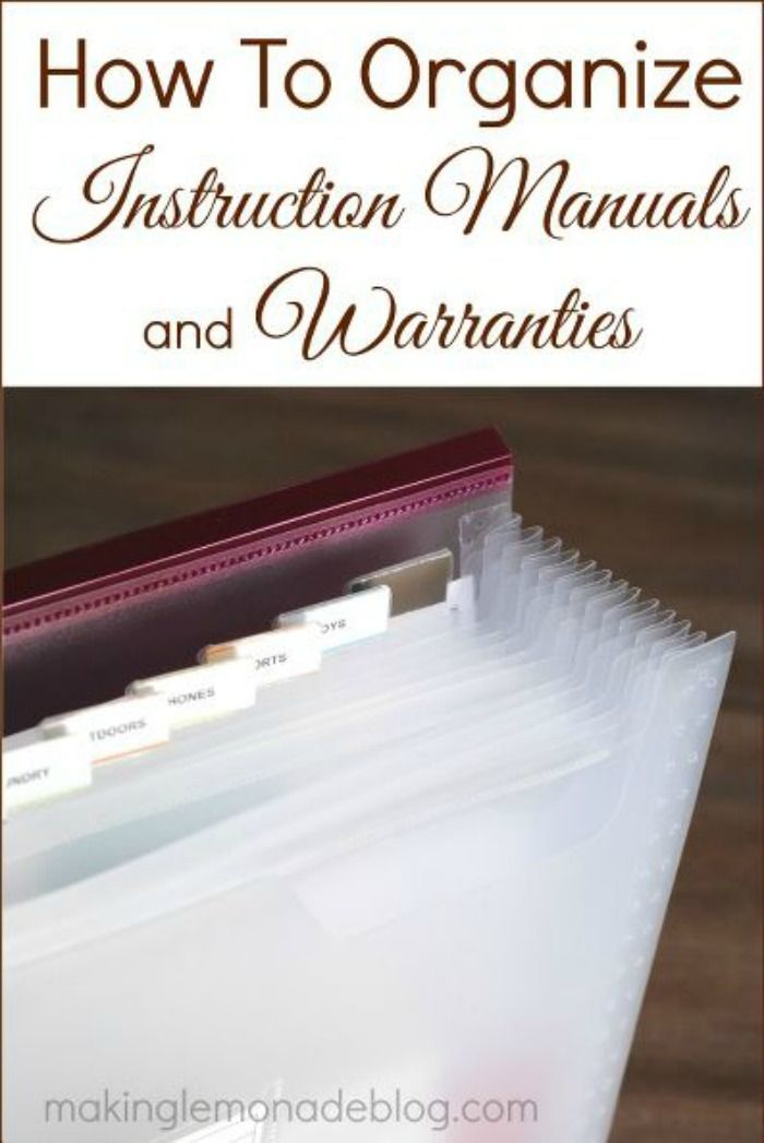 Must Read Tip How To Organize Product Manuals And Warranties