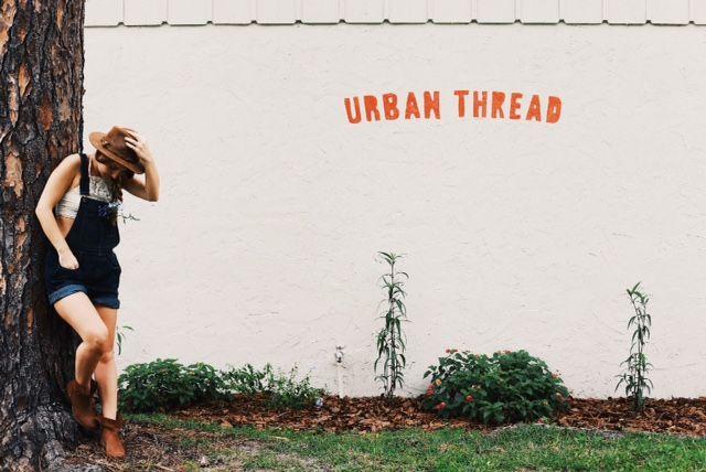 Straight chillin' at Urban Thread <3