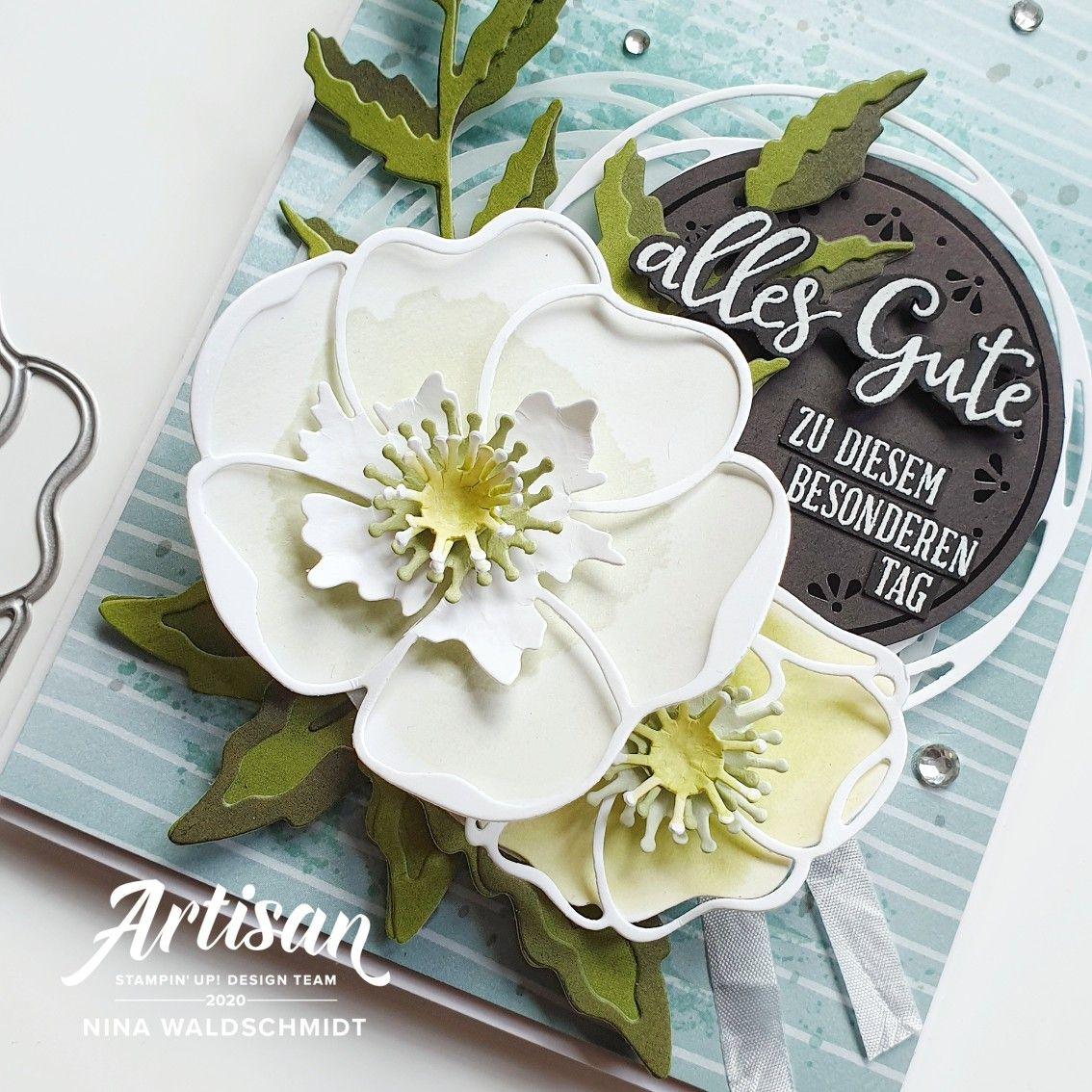 Hochzeitskarte Mohnblütenzauber