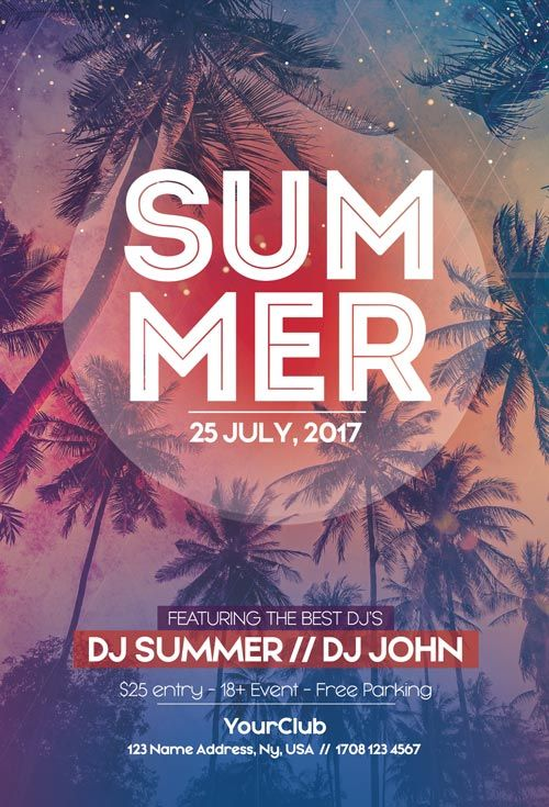 Summer Free Party Flyer Template  HttpFreepsdflyerComSummer