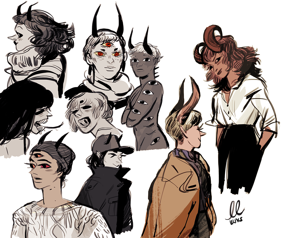 demons by lowlighter on tumblr demons by