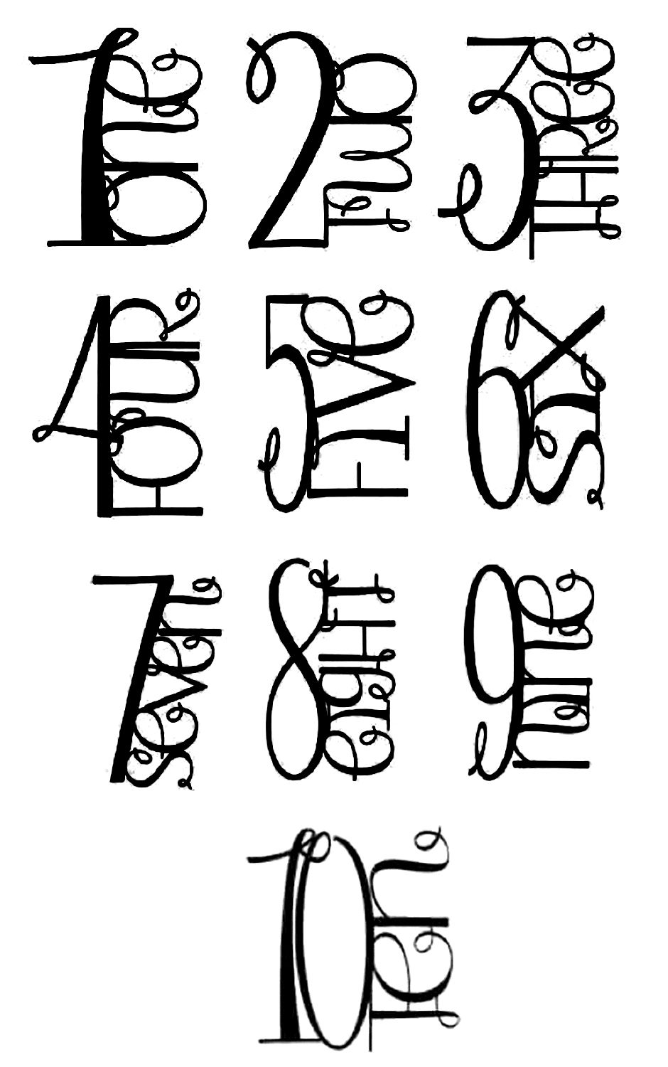 Fancy Letters And Numbers : fancy, letters, numbers, Fancy, Numbers, Letters,, Numbers,, Lettering