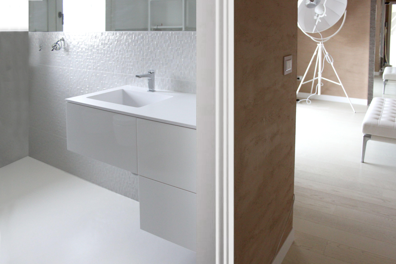 Microtopping Bagno ~ Microtopping riveste il bagno di una villa di lusso per un
