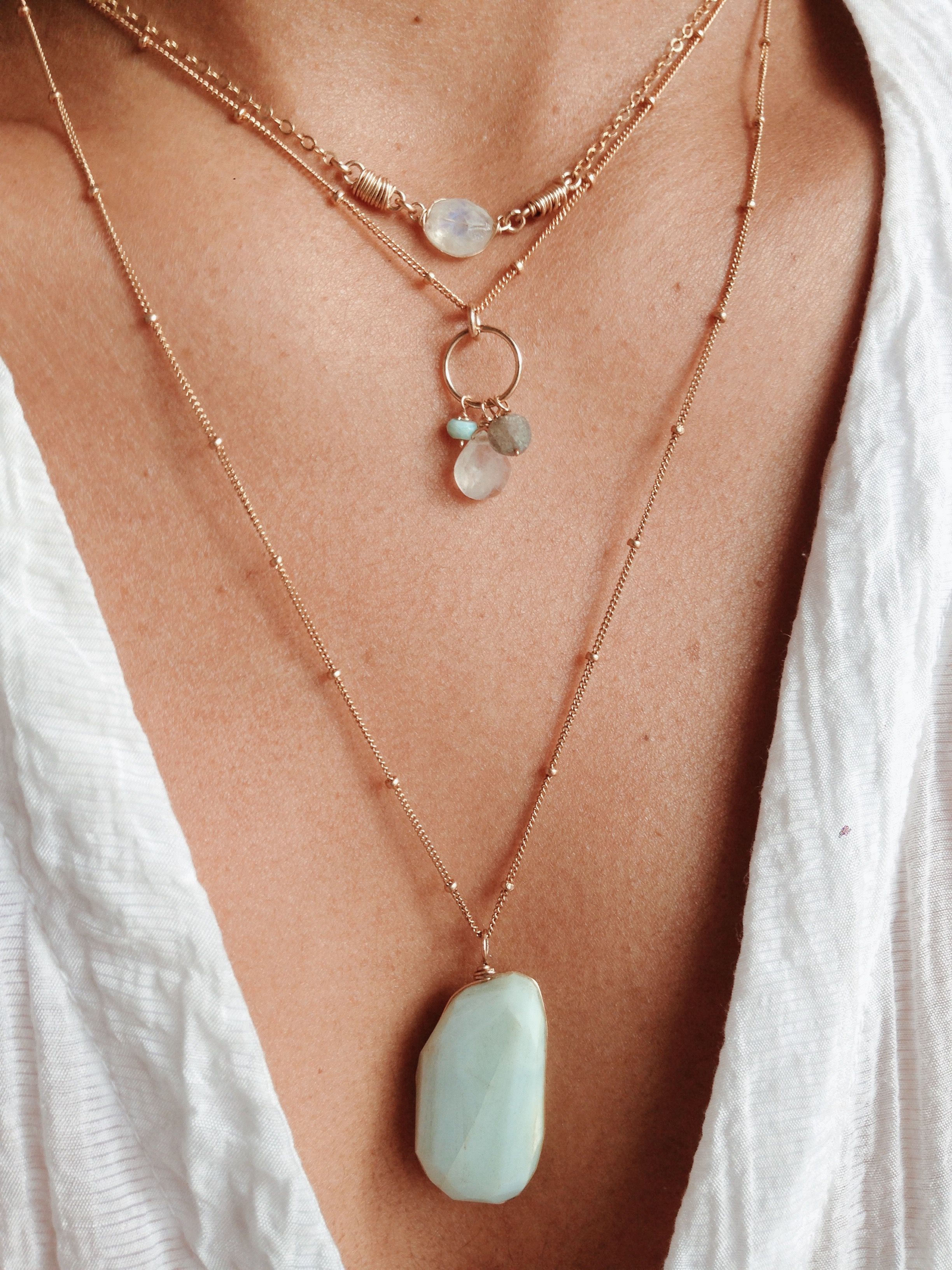 Handmade Macrame Charm Necklace White Choker Charm Necklace Lucky Protection Healing Coin Necklace Hippie Boho Style Choker Necklace