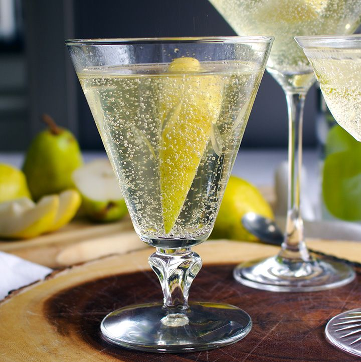 Pear Martini, Champagne