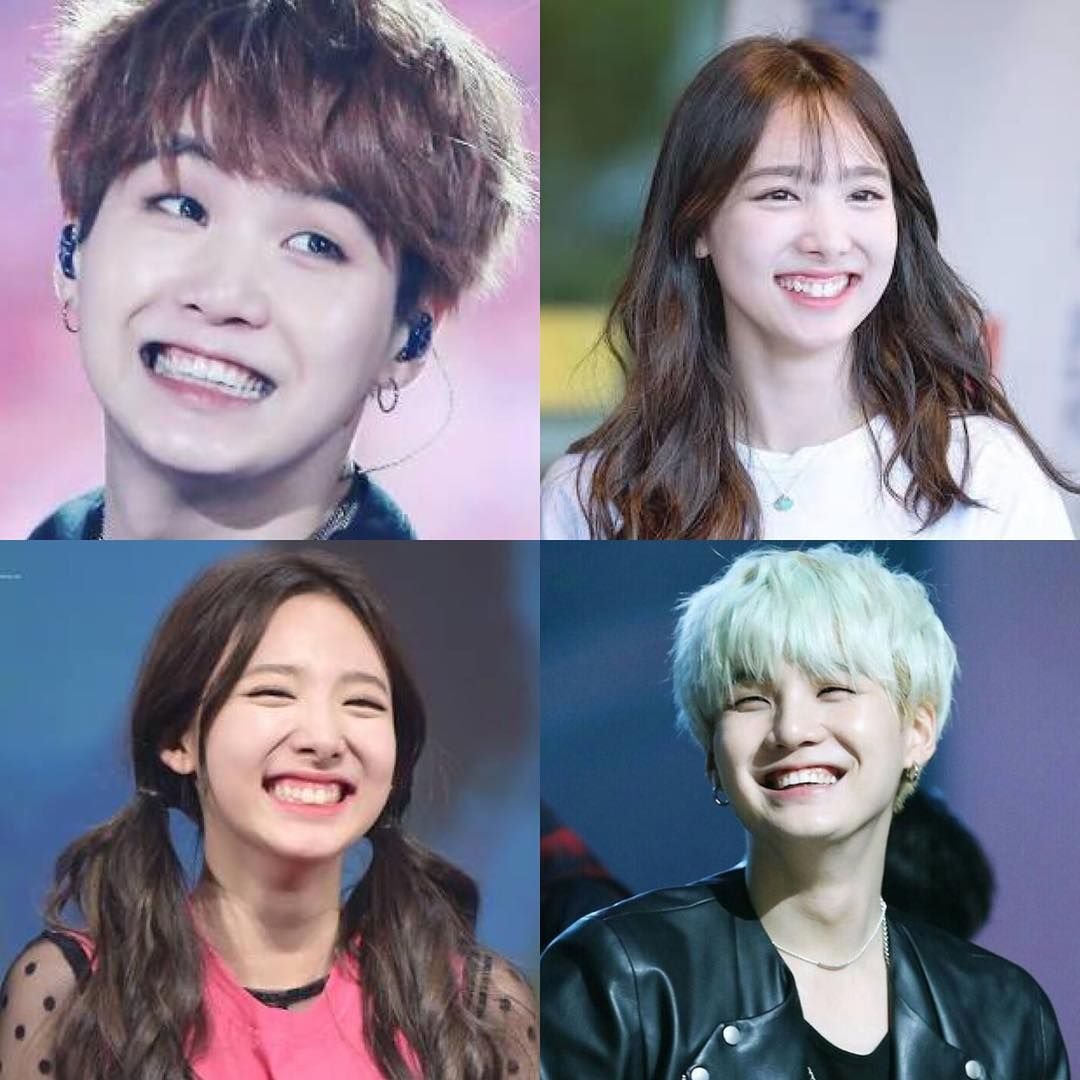 With This Same Gummy Smile How Could You Not Love Them But For Real They Literally Look Alike Destiny Perhaps Cute Couples Nayeon Bangtan Sonyeondan