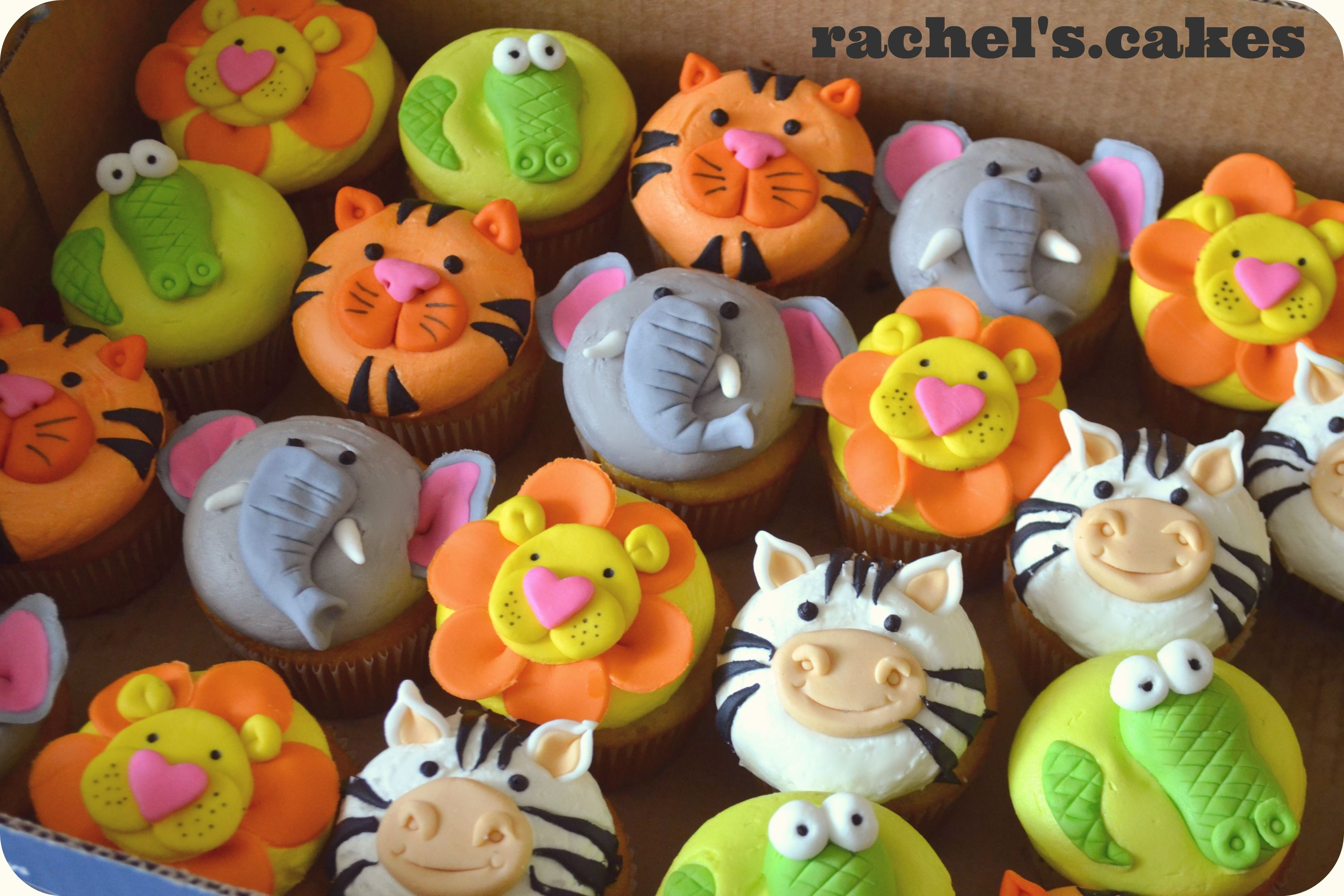 Magdalenas Decoradas Infantiles Zoo Animal Cupcakes Cupcakes N Mini Treats Galletas Galletas