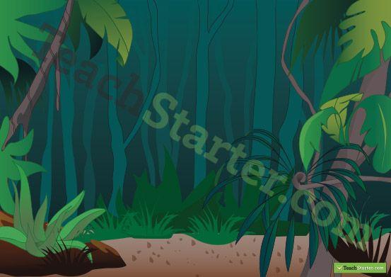 Rainforest Background Teaching Resources - Teach Starter SCHOOL - new jungle powerpoint template