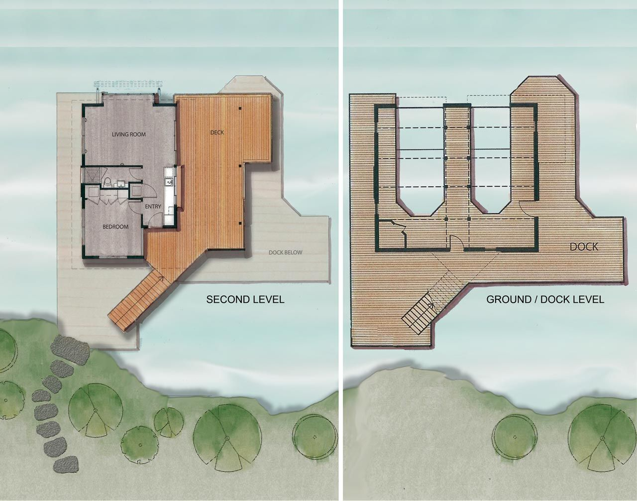 Boathouse Renovation And Extension In Muskoka Lakes Ontario House Plans With Pictures Boathouse Design House Boat