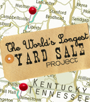 THE  WORLD'S LONGEST YARD SALE PROJECT. saw this on tv in 2007. this is my idea of the perfect get away, rent the uhaul truck n go