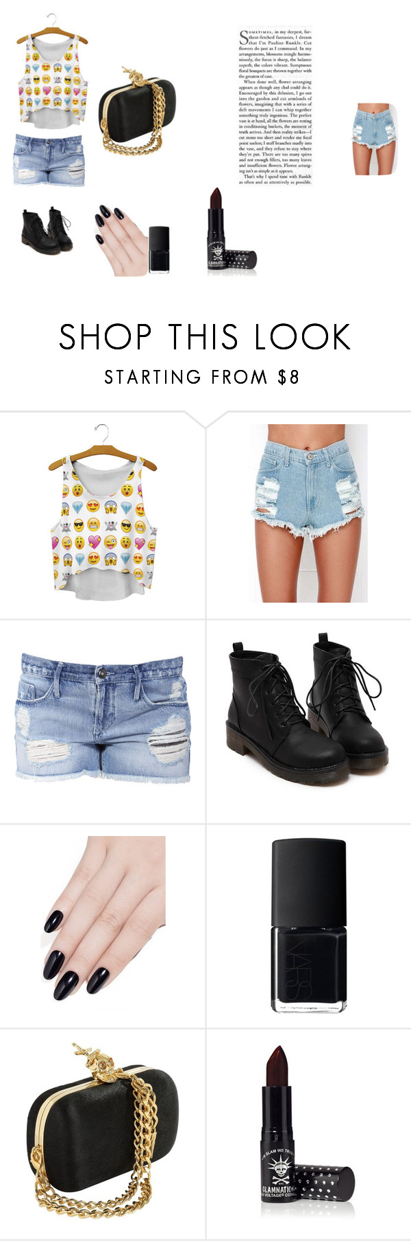 """EXPRESSO"" by fashionpolicecimrn80 on Polyvore featuring Black Orchid, ncLA, NARS Cosmetics and Manic Panic"