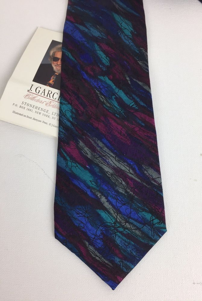 J Garcia Neck Tie Collectors Edition Stonehenge Banyan Trees 100
