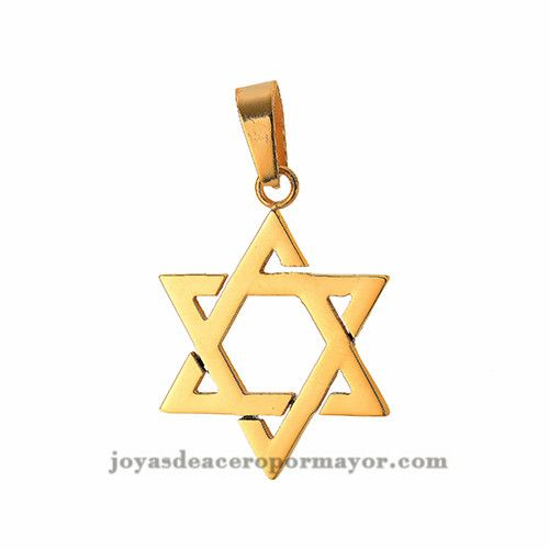 Pendant of star of david in stainless steel gold plated ssptg32682 pendant of star of david in stainless steel gold plated ssptg32682 aloadofball Images