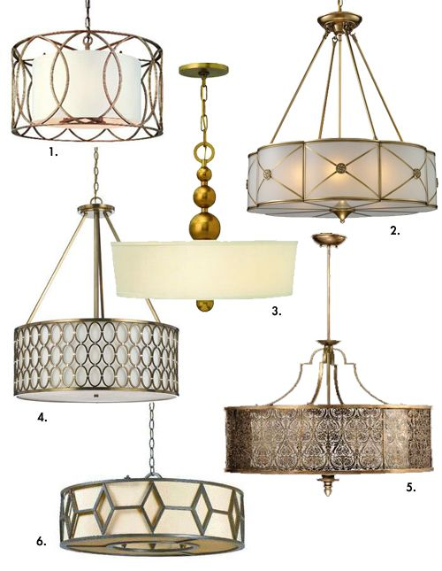 fabulous drum pendant light fixtures living room | A light fixture for our parlor | How About Orange ...