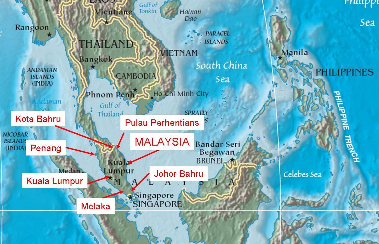 Malaysia singapore map asia pinterest singapore map malaysia malaysia singapore map gumiabroncs Images