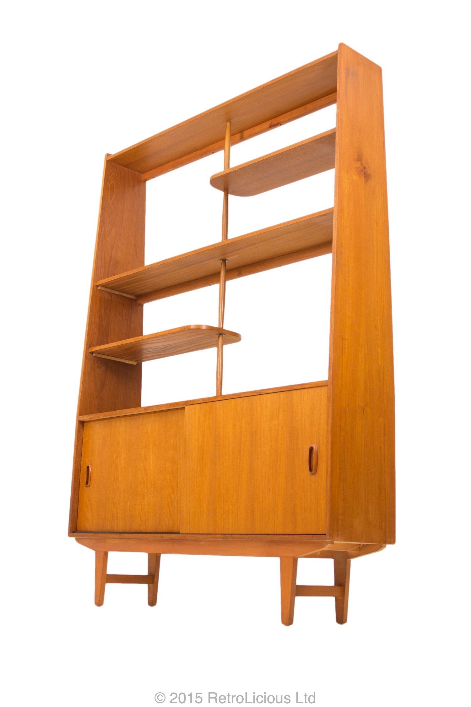 G Plan Teak Room Divider Book Shelf Media Unit 1960 60s Danish